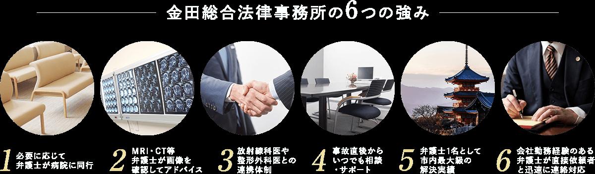 金田総合法律事務所の6つの強み